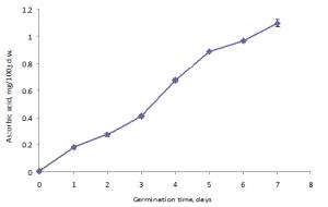 Entwicklung von Vitamin C in Buchweizensprossen.