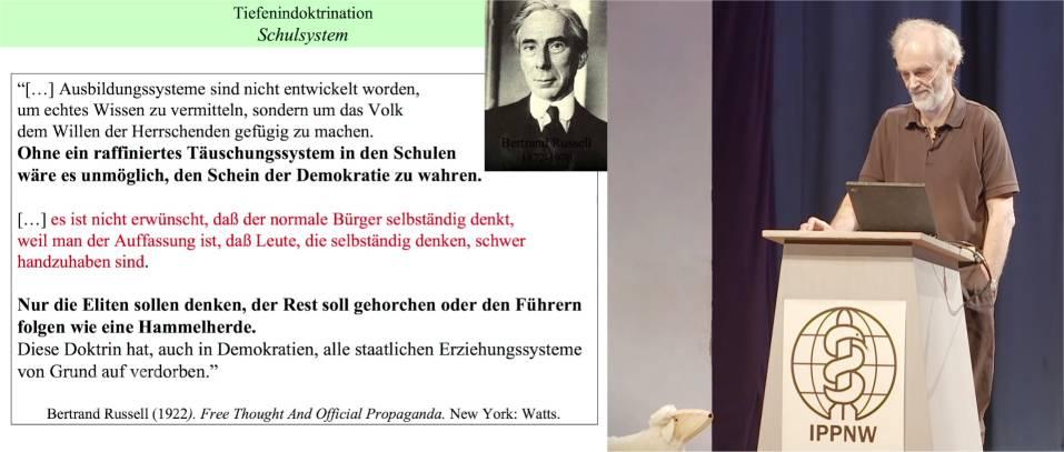 Prof. Mausfeld: Folie Tiefenindoktrination