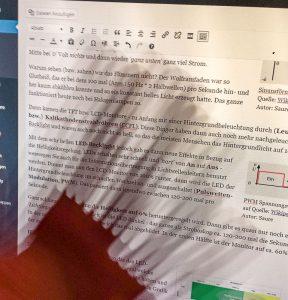 Monitorflimmern - Starker Flimmer bzw. Stroboskopeffekt bei 0% Monitor-Helligkeit mit LED-Backlight (PWM).