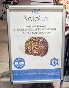 Keto-Brot mit viel Fett und Protein - Hocherhitzt und wohl keine gute Idee.