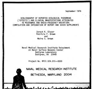 US Navy Report (Glaser, 1976) zu den Auswirkungen von Mikrowellen-EMF.