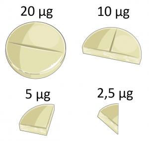 Teile und Herrsche: Wie man eine Tablette Zerteilen und damit die Dosis aufteilen kann.