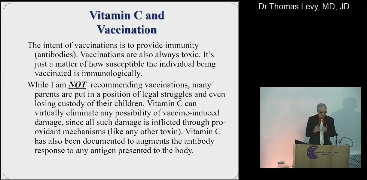 Dr. T. Levy zu Vitamin C als Gegengift bei (Zwangs-) Impfungen.